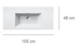 Умывальник Catalano Star 105 1105ST00
