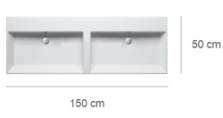 Умывальник двойной Catalano Premium 115VP00