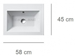 Умывальник Catalano Star 58 158ST00