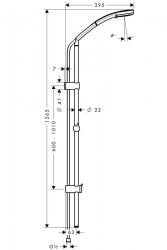 Душевой набор Hansgrohe Croma 100 105 см Reno Lift 27791000 Multi