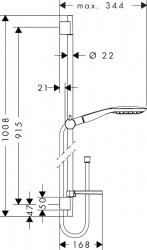 Душевой комплект Hansgrohe Raindance Select E 150 90 см 27857400 3jet