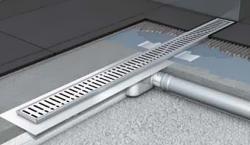 Душевой канал ACO ShowerDrain C-line 408727 с фланцем низкий сифон