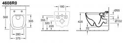 Унитаз подвесной Villeroy&Boch Antheus 4608R0RW