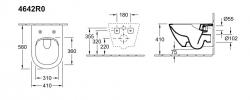 Унитаз подвесной Villeroy&Boch Vivia 4642R0XX