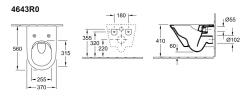 Унитаз подвесной Villeroy&Boch Vivia 4643R0XX