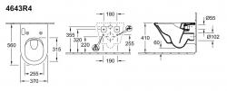 Унитаз подвесной Villeroy&Boch Vivia 4643R4R1