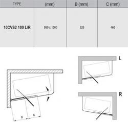 Шторка для ванн Ravak 10CVS2-100 L/R