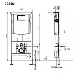 Инсталяционная система Villeroy&Boch ViConnect 92246100 для унитаза