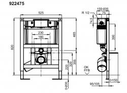 Инсталяционная система Villeroy&Boch ViConnect 92247500 для унитаза