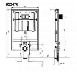 Инсталяционная система Villeroy&Boch ViConnect 92247600 для унитаза