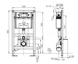 Инсталяционная система Villeroy&Boch ViConnect 92247800 для унитаза