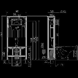 Скрытая система инсталляции Alca Plast AM116/1120 Solomodul