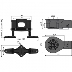 Низкий сифон DN50 и комплект регулируемых ног Alca Plast APZ-S9