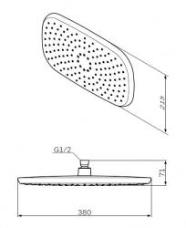 Верхний душ AMPM Sensation F0530000