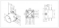 Универсальный базовый модуль AM.PM MultiDock F100100