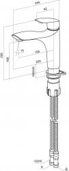 Смеситель для мойки AmPm Bliss L F5300064