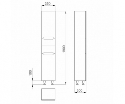 Шкаф-колонна Am.Pm Like M80CS0361WG38 35 см