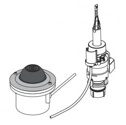 Кнопка пневматического смыва на расстоянии Alca Plast MPO12