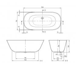 Ванны Villeroy&Boch Theano UBQ155ANH7F200V-96 155x75 см