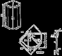 Душевой уголок Ravak X-Point XP1CP4-90 R550 (X3B270C00Z1B)