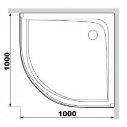 Поддон душевой Am.Pm Like Round W95T-301-100W 100 см